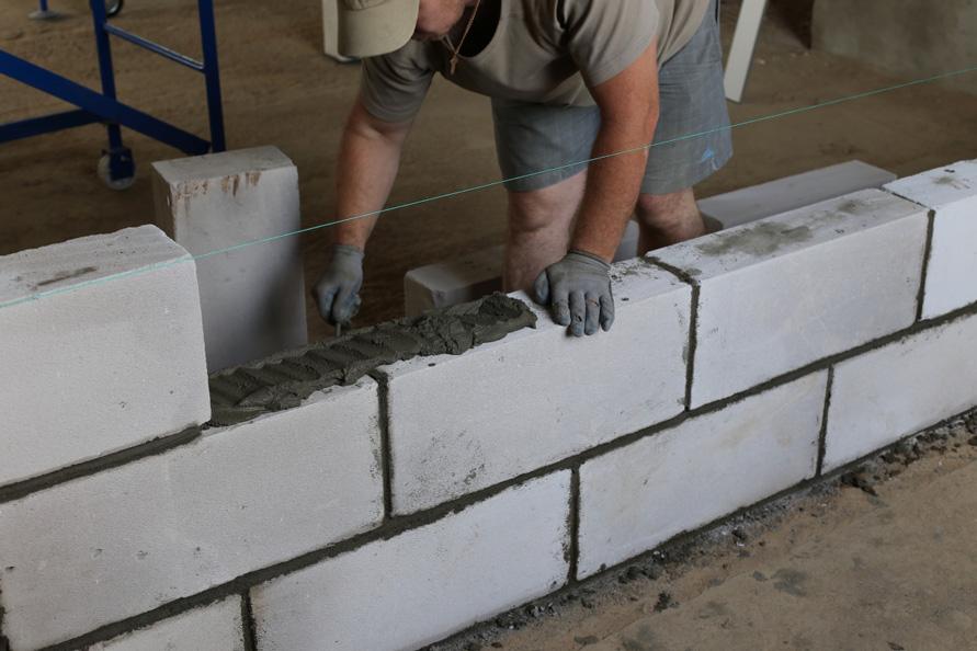 Стена из пеноблока своими руками